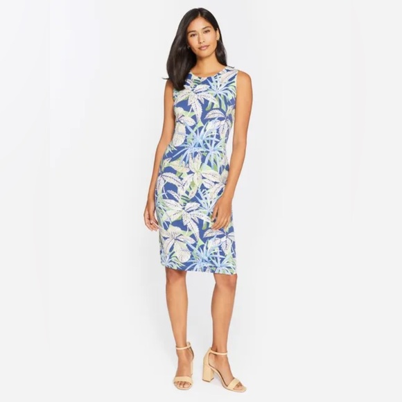 J. McLaughlin Sophia Floral Stretch Sheath Dress